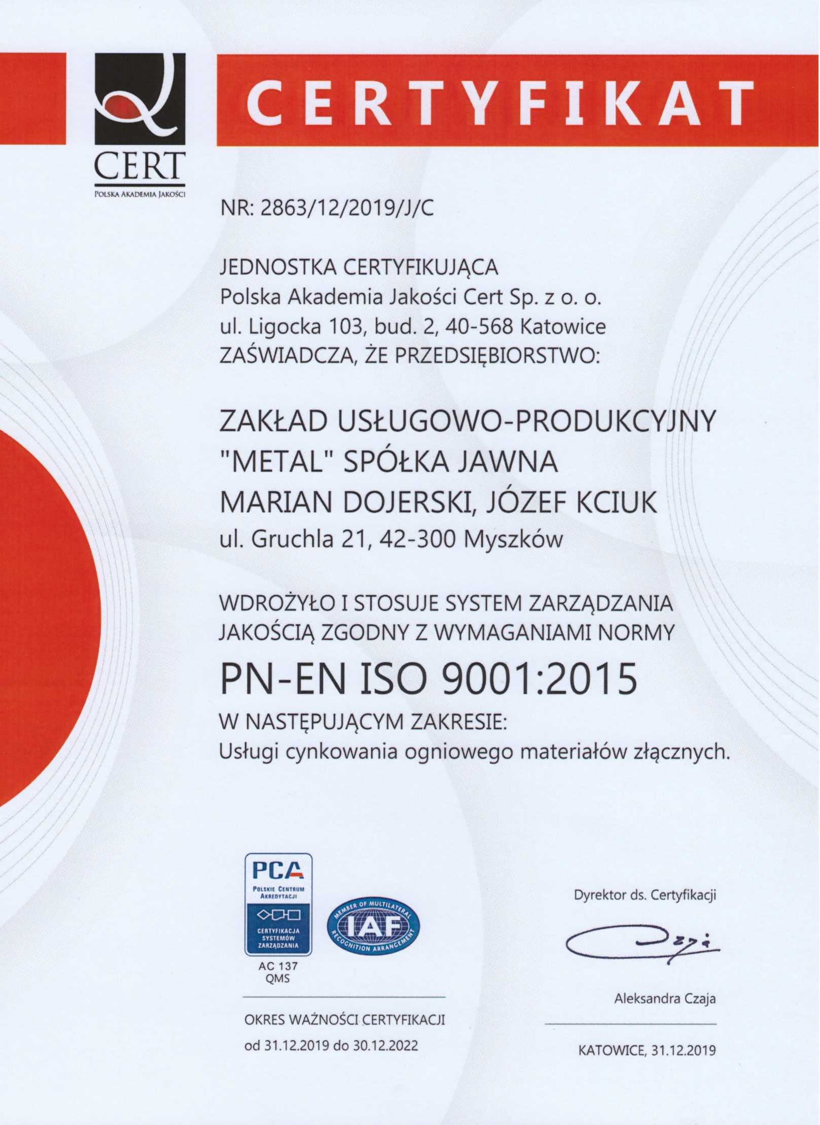 Metal ISO 2020 PL